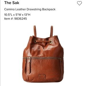 The Sak Leather Drawstring Backpack